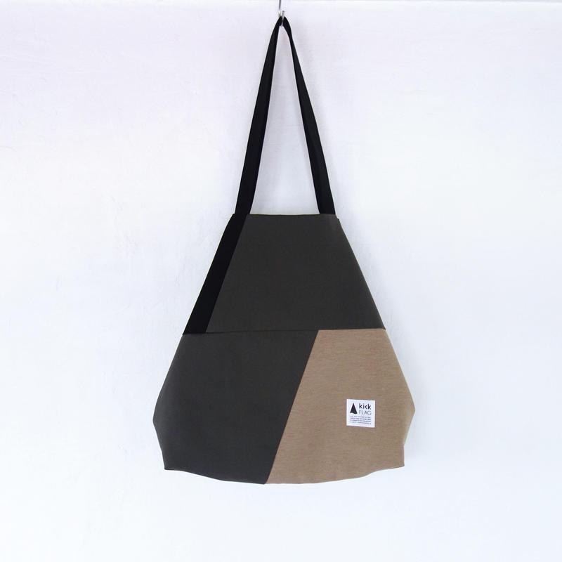 flag bag(ダークグレー・ブラウン)
