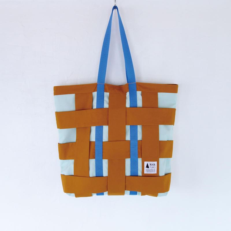 check bag(キャメル・ミントグリーン)