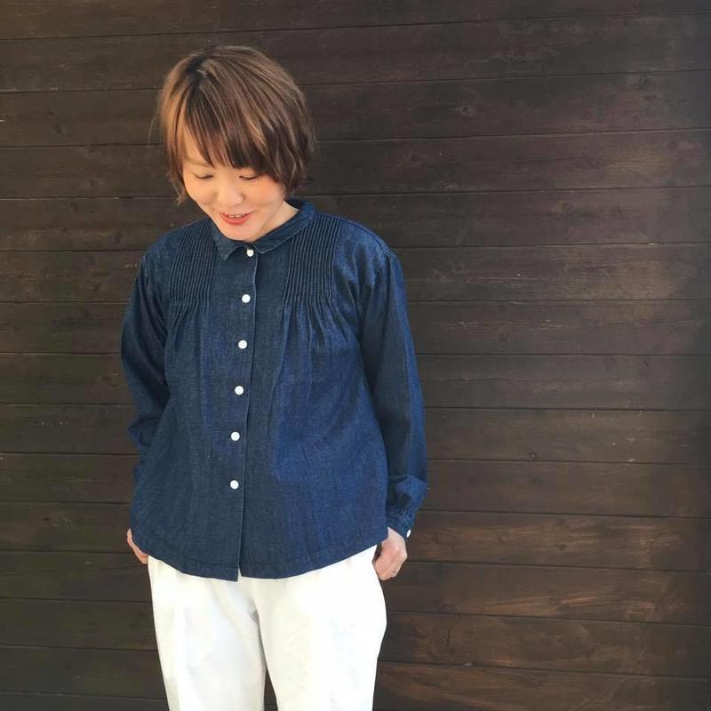 DENIMピンタックシャツ/eka::'19SS/1720600