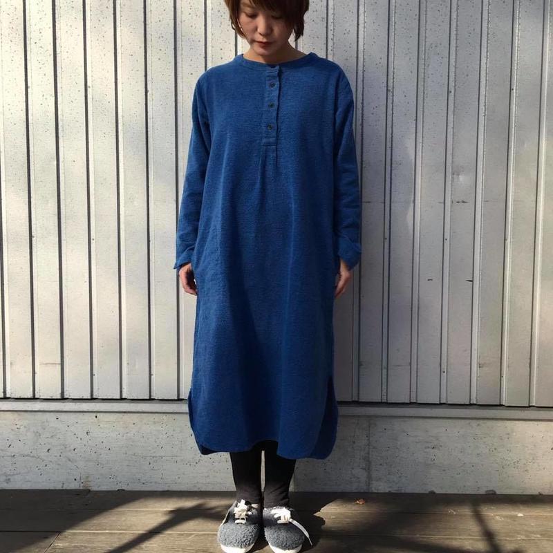 シャンブレー起毛ヘンリーワンピース/eka::/エーカ'18AW /1720616