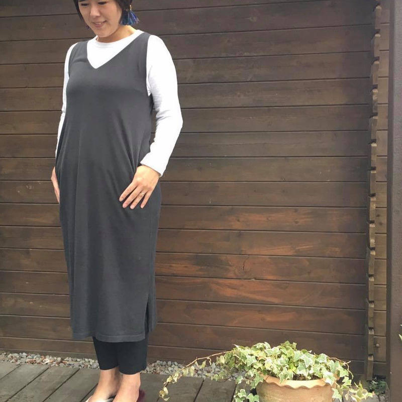 LCOTTON TENCEL ノースリOP/mao made'19SS/911141