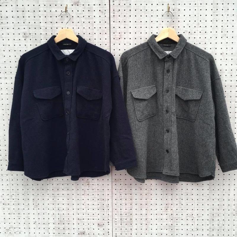 BIGシルエットシャツ/Clip tab/クリップタブ'18AW/3184t001