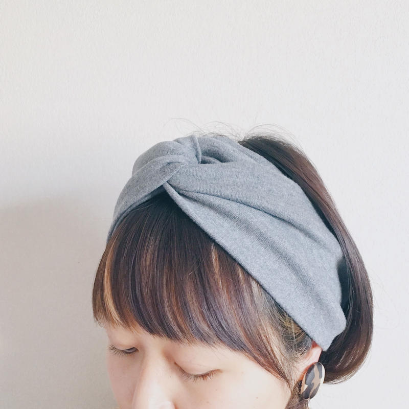 T-shirt turban c-gray