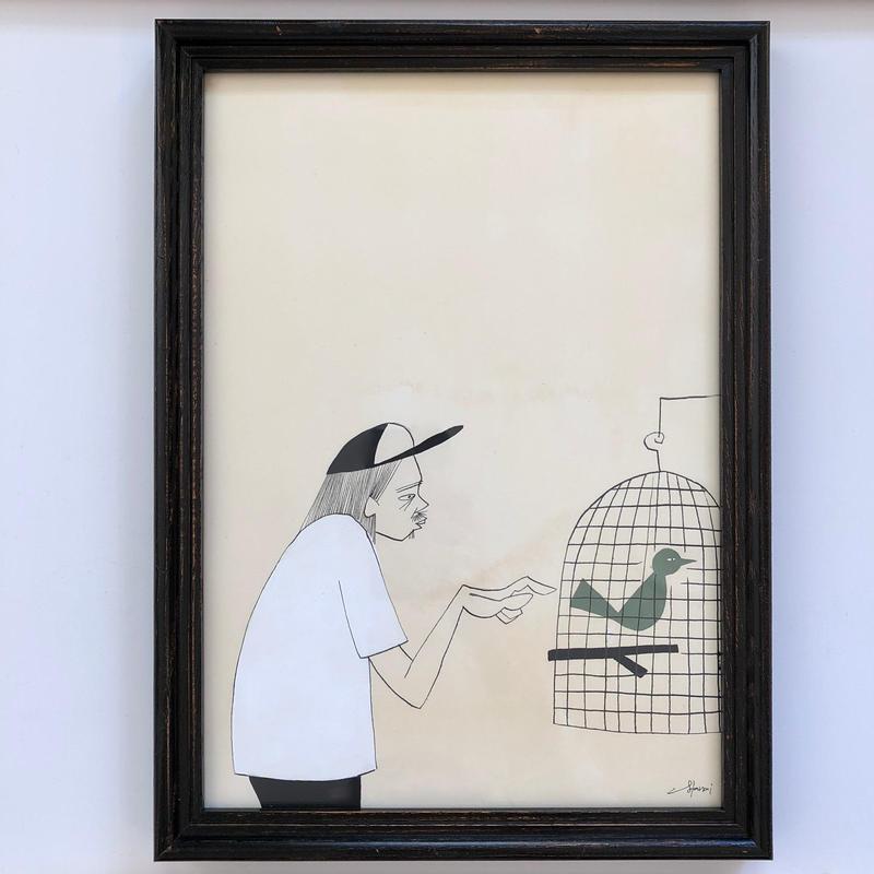 "Yusuke Hanai Original Paint ""Bird"""