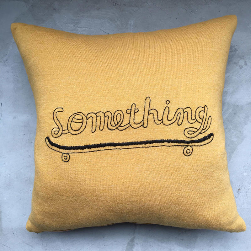 "STOMACHACHE. x Pacifica Collectives ""Something"" Cushion"