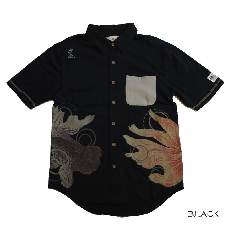 金魚と出目金のカットシャツ KJ91404