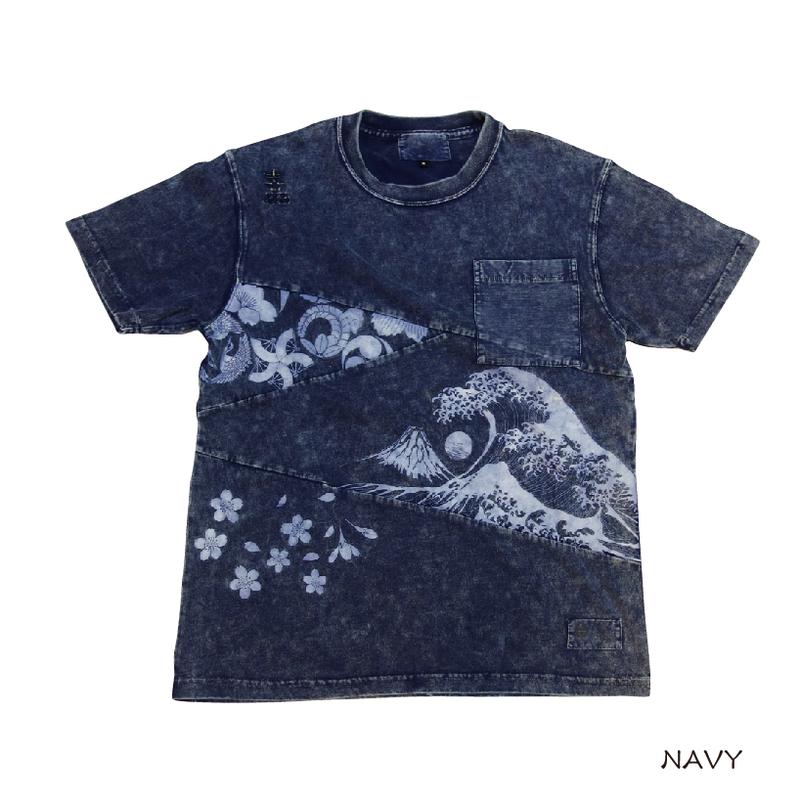 切り替え硫化染めTシャツ KJ91005