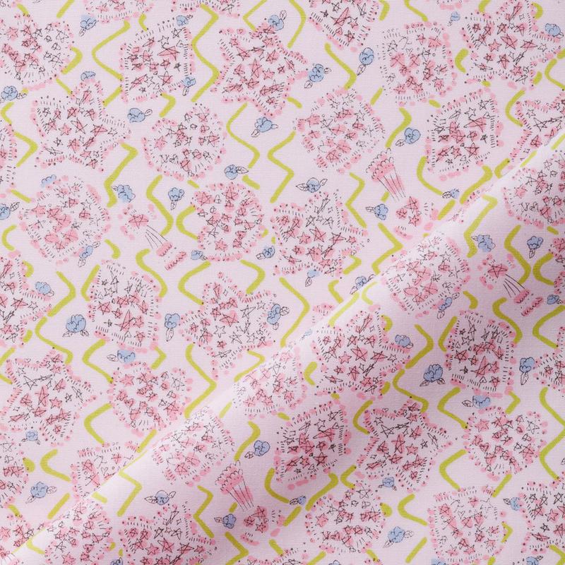 09 KiRAKiRA / ピンク 小さい柄 1m単位のカット