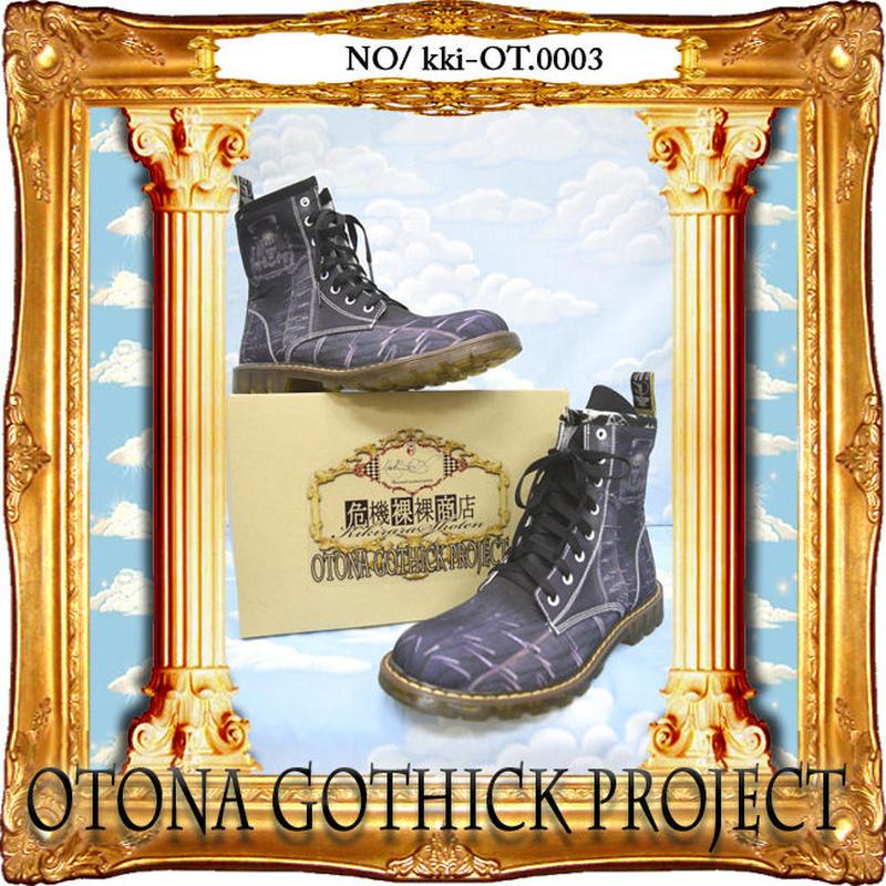 kki-OT.0003  大人ゴシックプロジェクトアイテム プリントブーツ<アイアンメイデン>
