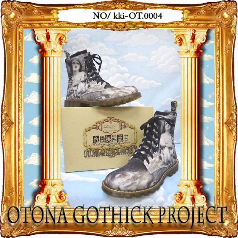kki-OT.0004  大人ゴシックプロジェクトアイテム プリントブーツ<火刑のジャンヌダルク>