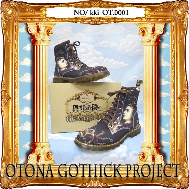 kki-OT.0001  大人ゴシックプロジェクトアイテム プリントブーツ<メデューサ>