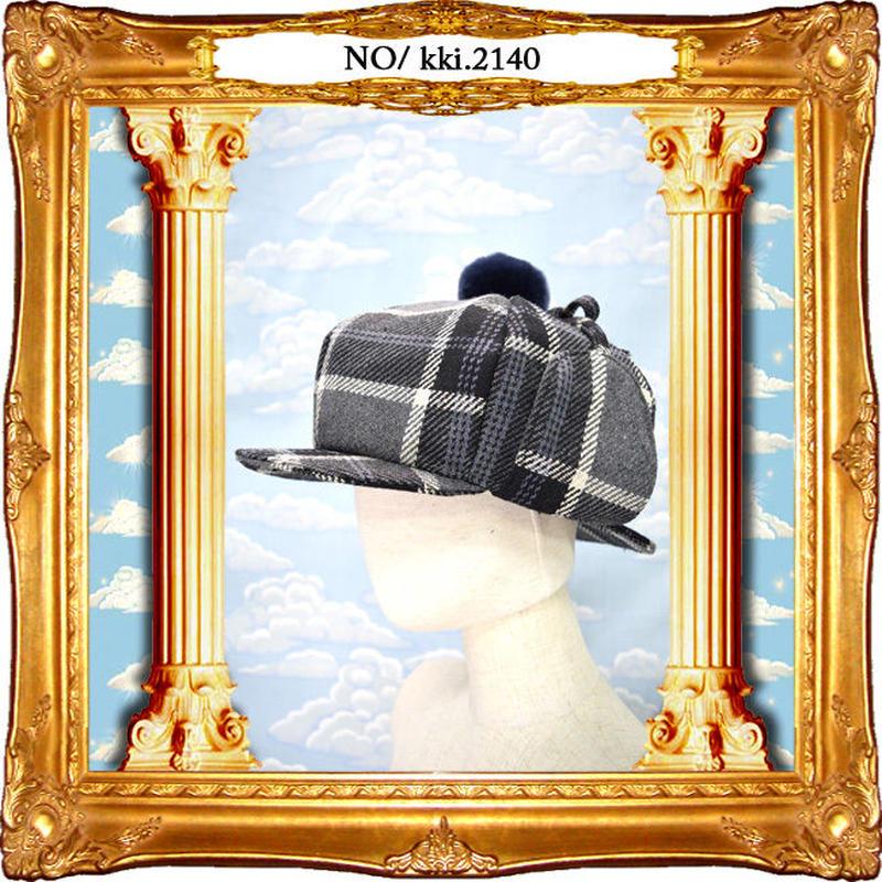 kki.2140 探偵キャスケット。<グレー>