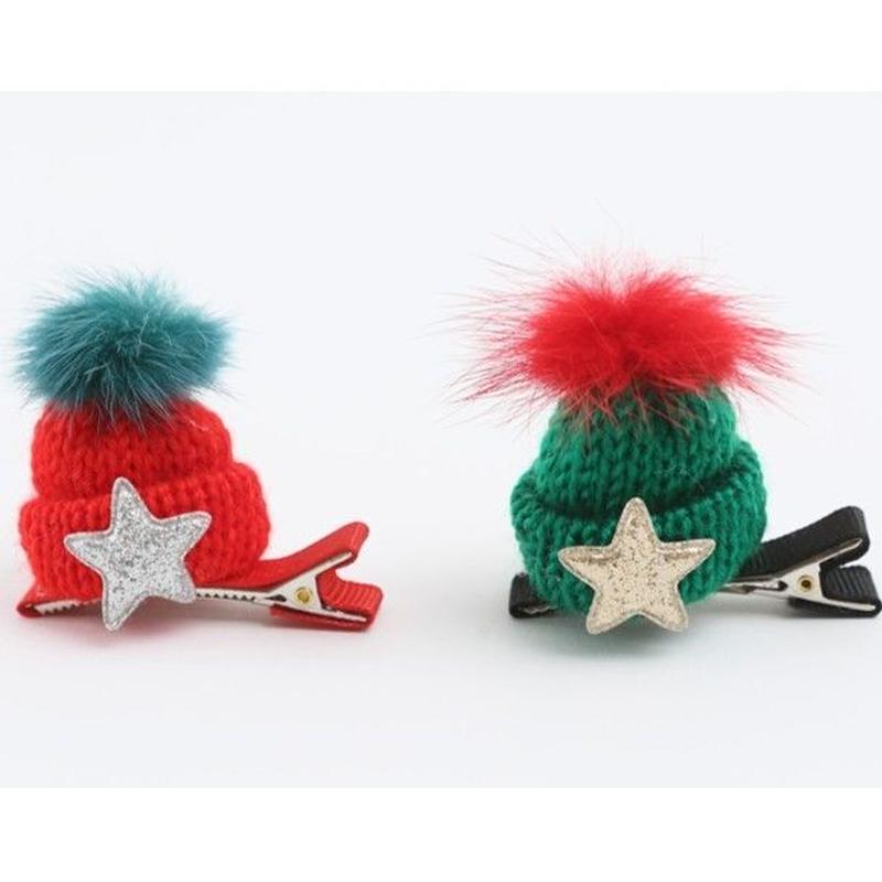 星のニット帽ヘアクリップ[AMYLOVESPET]