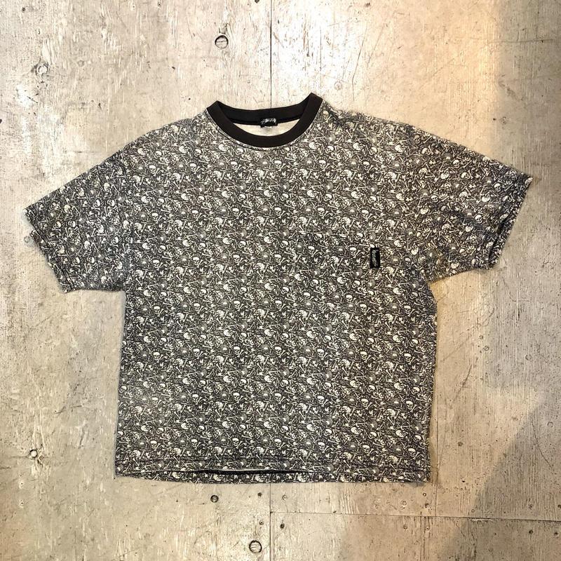 【OLD STUSSY】80s 総柄ポケットTシャツ