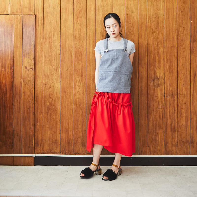 【Akihide Nakachi 】asymmetry skirt