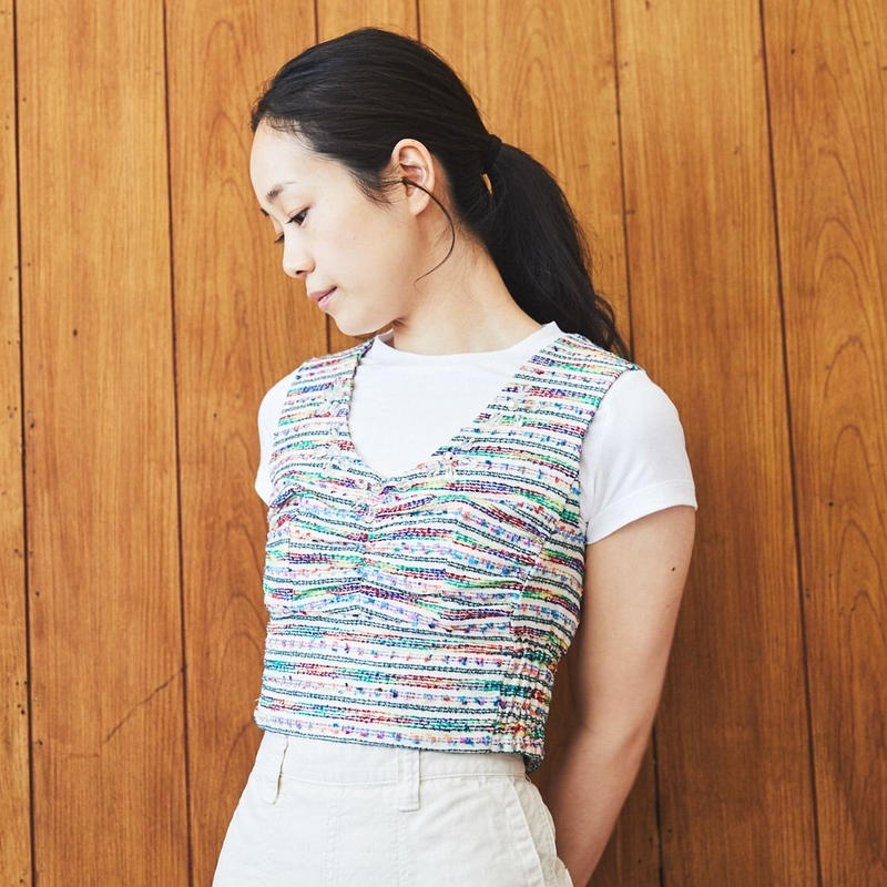 【 mania TOKYO 】Tweed Bra top -Colorful-