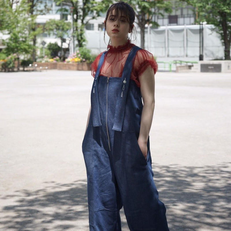 【 MARU TO 】Front zip overall