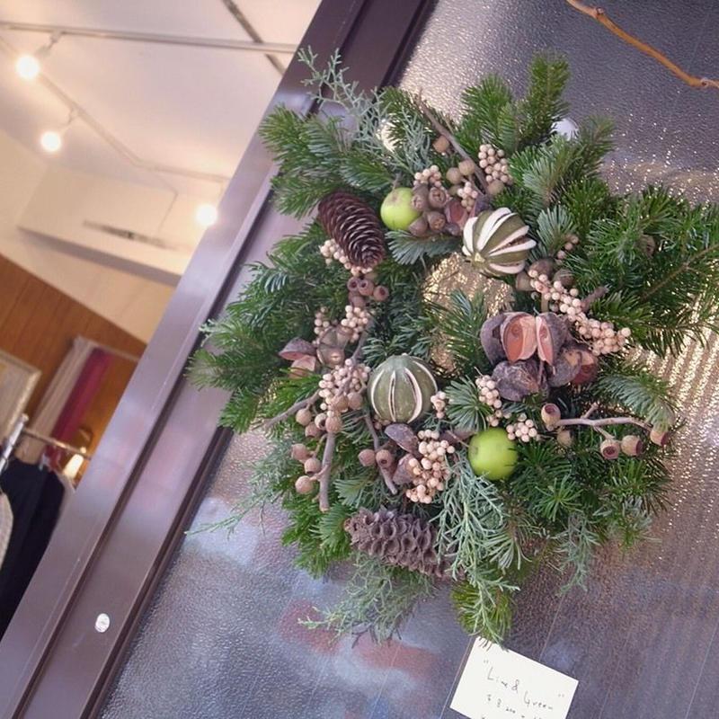 【花園-kaen°-】wreath -Lime & Green-