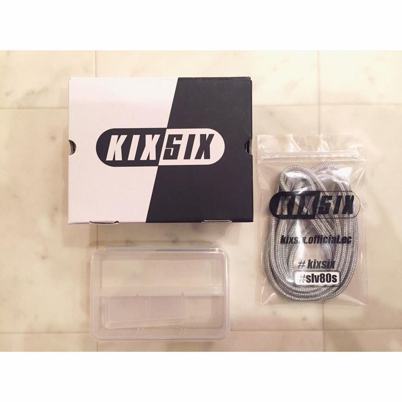 【 KIXSIX 】METALLIC ROPELACE -Silver-