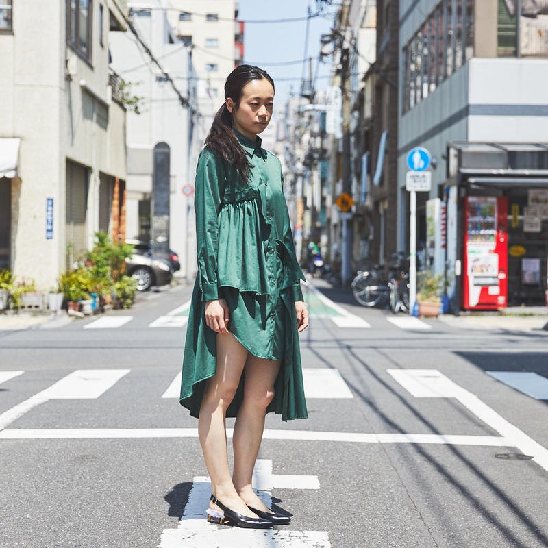 【Akihide Nakachi 】asymmetry long shirts