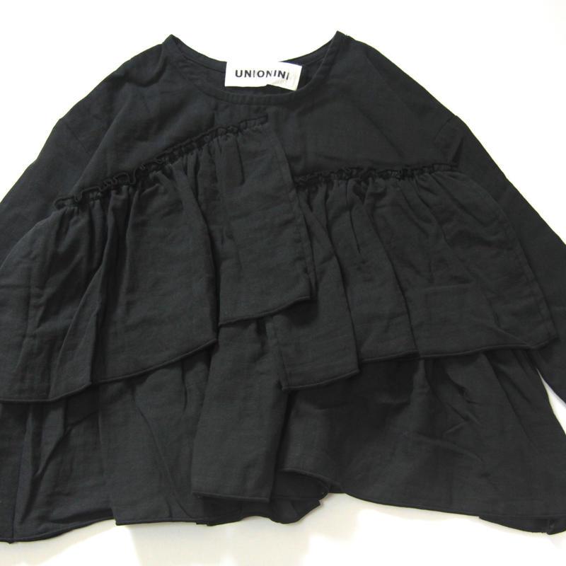 【 UNIONINI 】gauze frill blouse