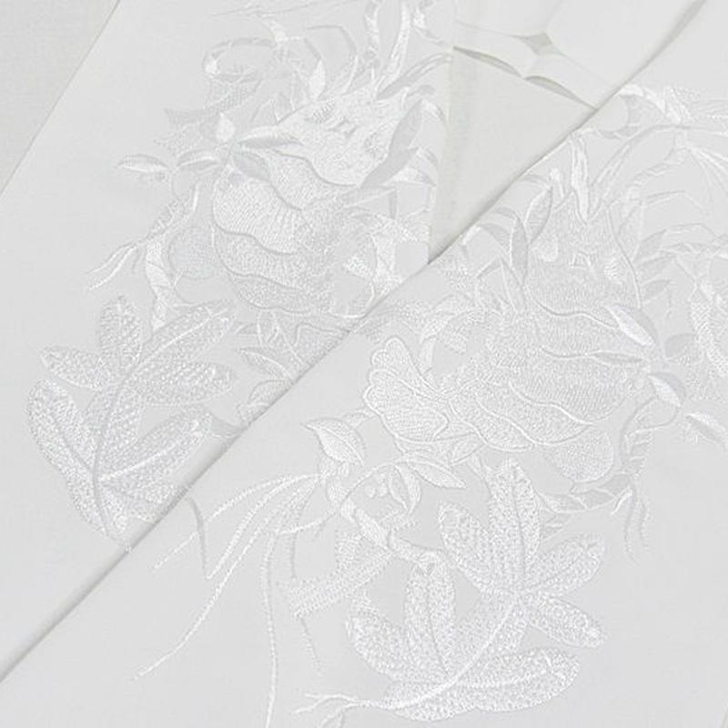 【刺繍 半えり】 半衿 振袖 婚礼 豪華 日本製 シルエリー 白白★伊勢海老