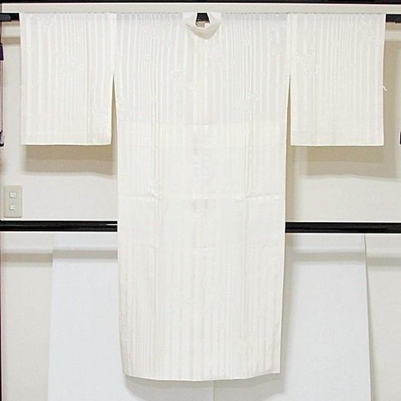 【白 長襦袢】正絹 袷 胴抜き 新品白半衿付き 居敷当付き☆153cm前後ベスト【美品】