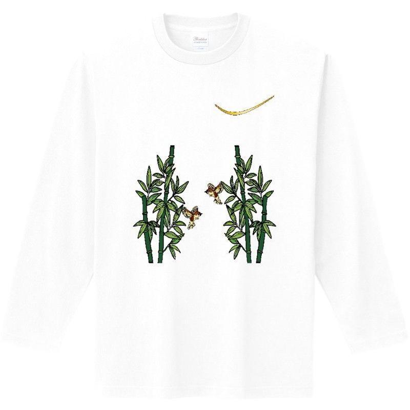 伊達政宗家紋柄竹と雀長Tシャツ