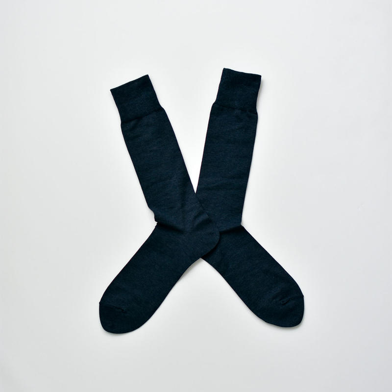 COTTON SOCKS / 28-30cm  Prussian blue