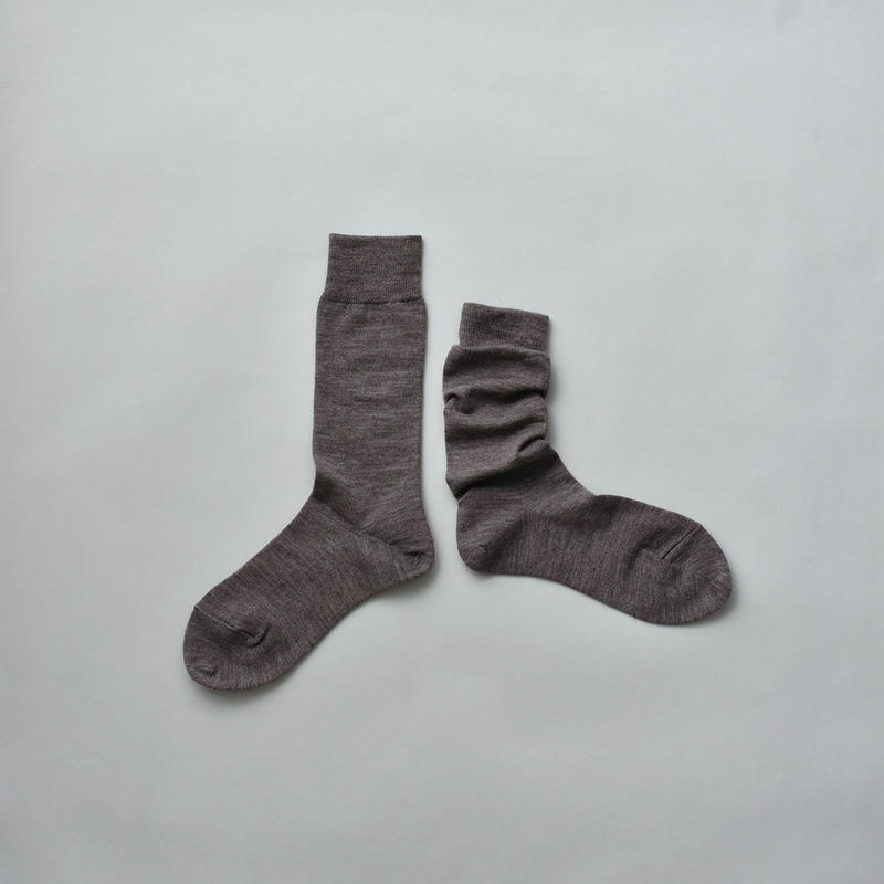 MERINO WOOL SOCKS / 22-24cm  Heather gray