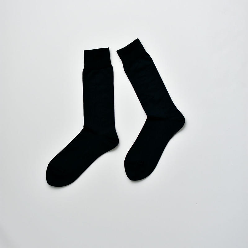 COTTON SOCKS / 22-24cm  Jet black