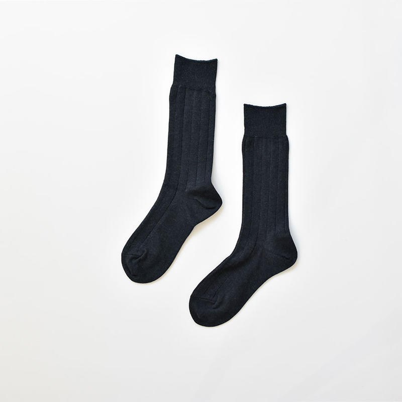 COTTON RIB SOCKS / 25-27cm  Dark blue