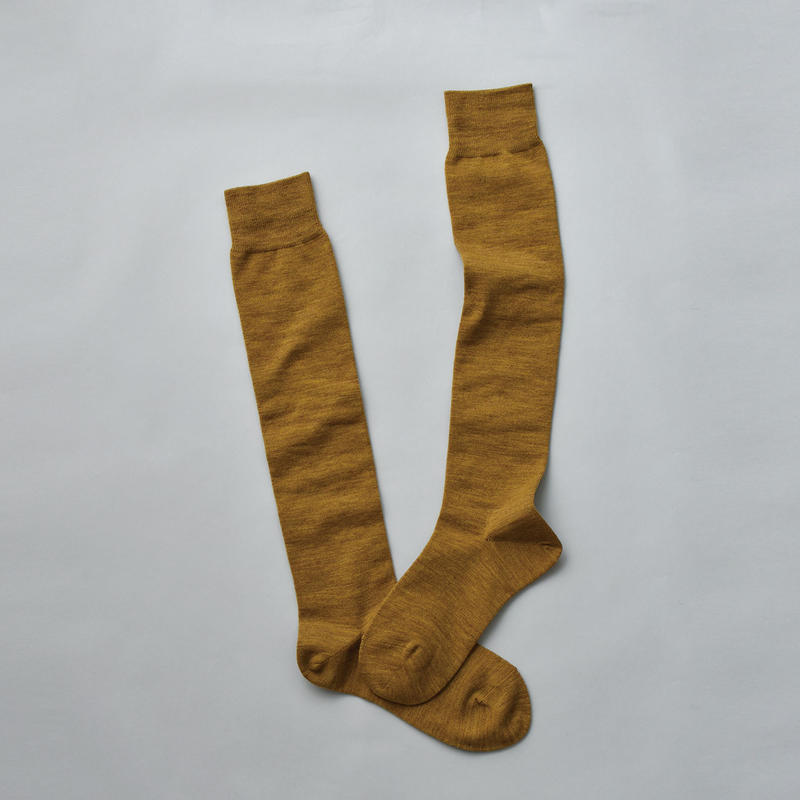 MERINO WOOL HIGH SOCKS / 22-24cm  Turmeric