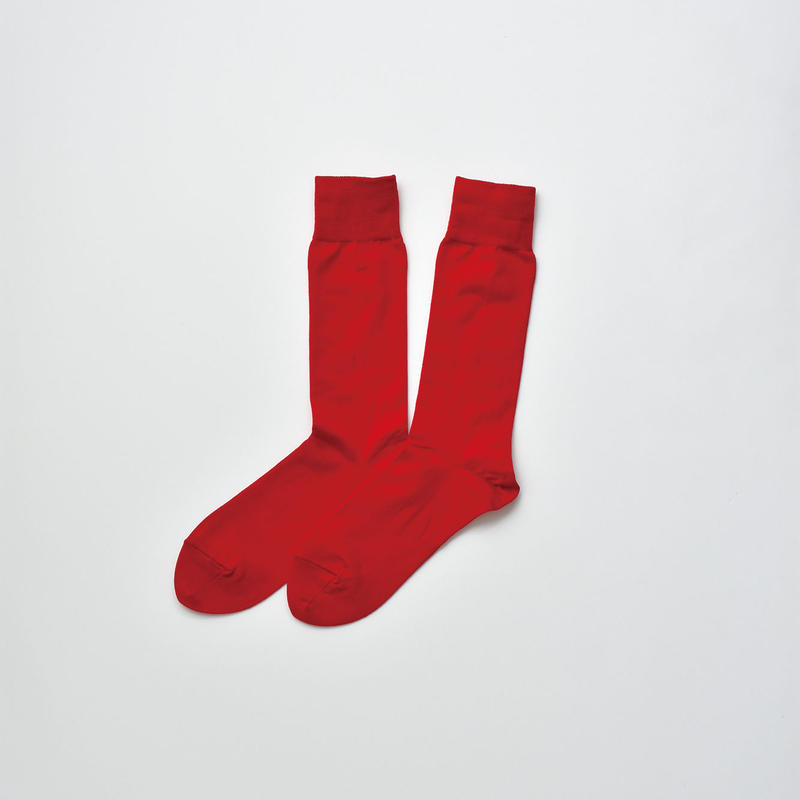 COTTON SOCKS / 22-24cm  Scarlet