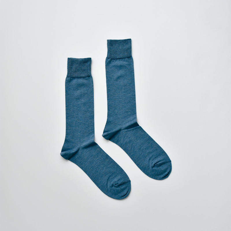 COTTON SOCKS / 25-27cm  Dutch blue