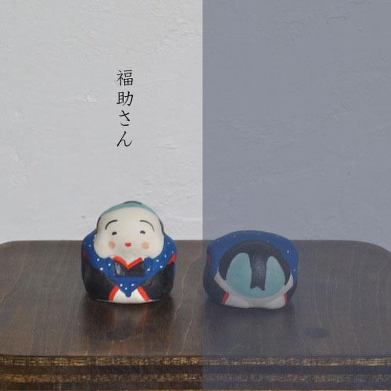 ミニ福助さん 青 Mini Fukusuke blue