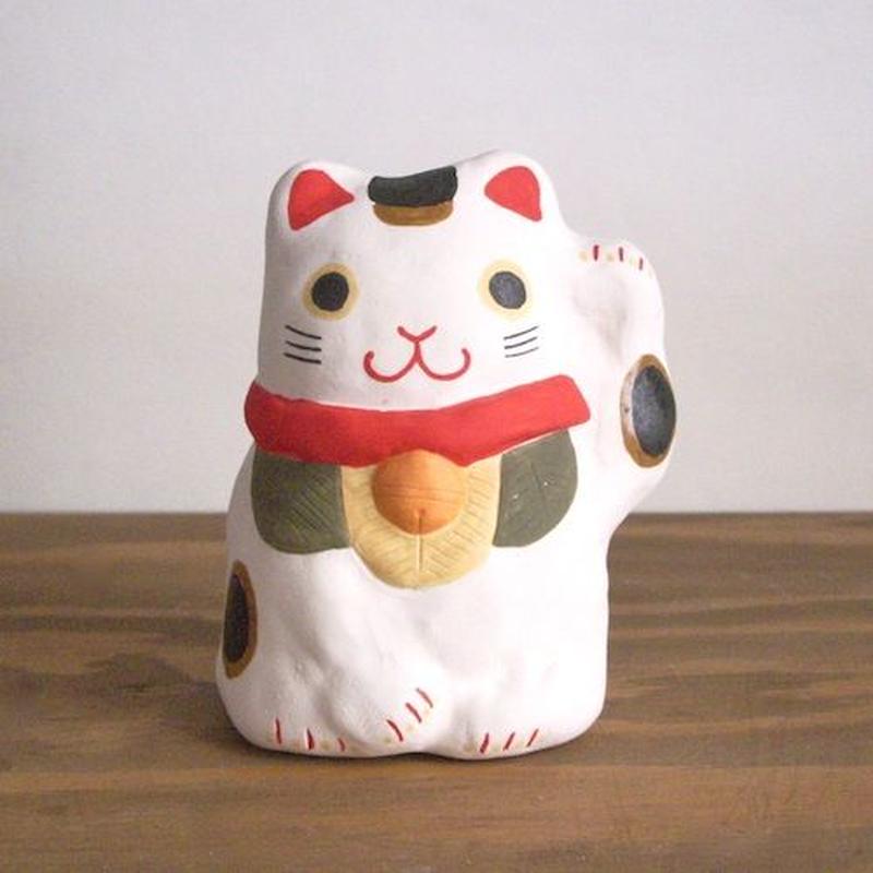 招き猫 白 Beckoning cat white