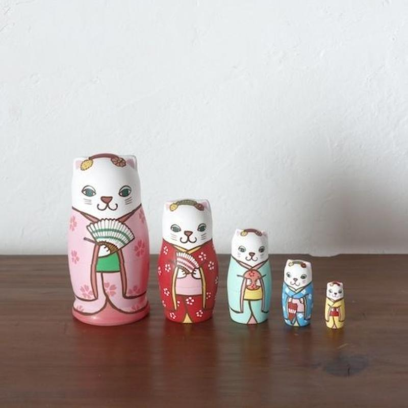 MATRYOSHKA 5sets 舞妓猫 Maiko cat