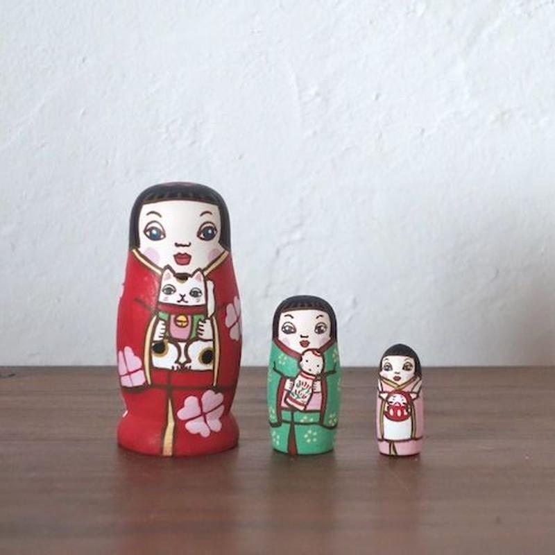 MATRYOSHKA 3sets 人形遊び Doll play
