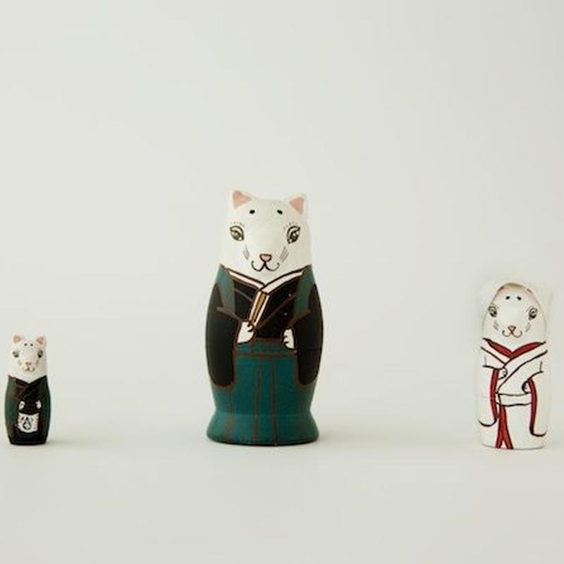 マトリョーシカ3個組(狐の嫁入り)