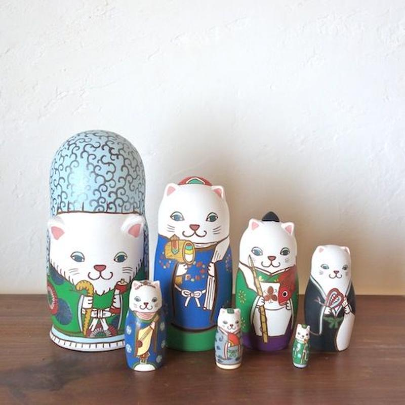 MATRYOSHKA 7sets 七福神猫 Seven Lucky Gods cat