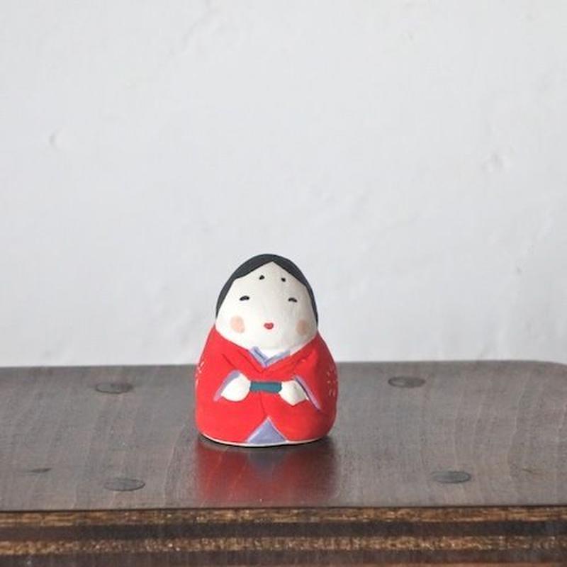 ミニお多福さん 赤  Mini Otafuku red