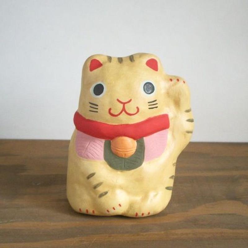 招き猫 黄 Beckoning cat yellow