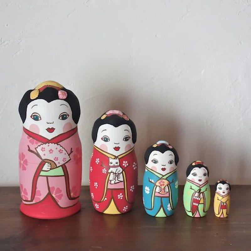 MATRYOSHKA 5sets 舞妓さん  Maiko