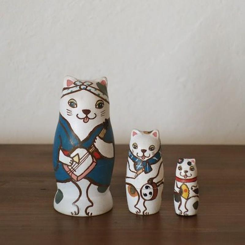 MATRYOSHKA 3sets 猫じゃ猫じゃ Cat Dance