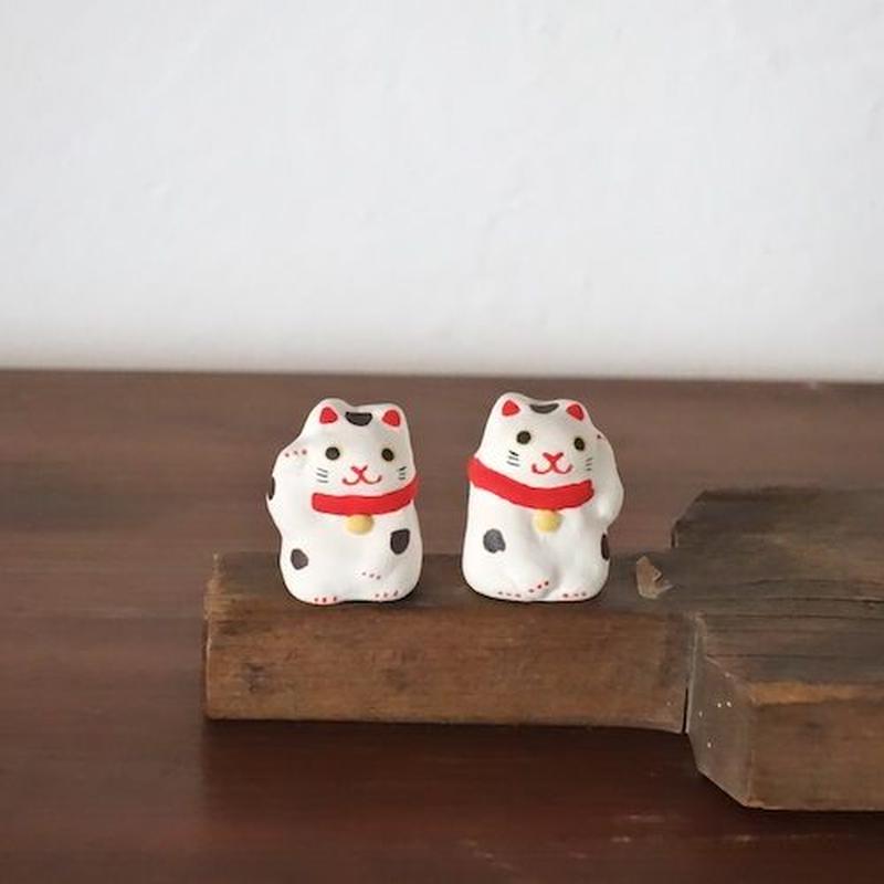 ミニ招き猫 白 Mini Beckoning cat white