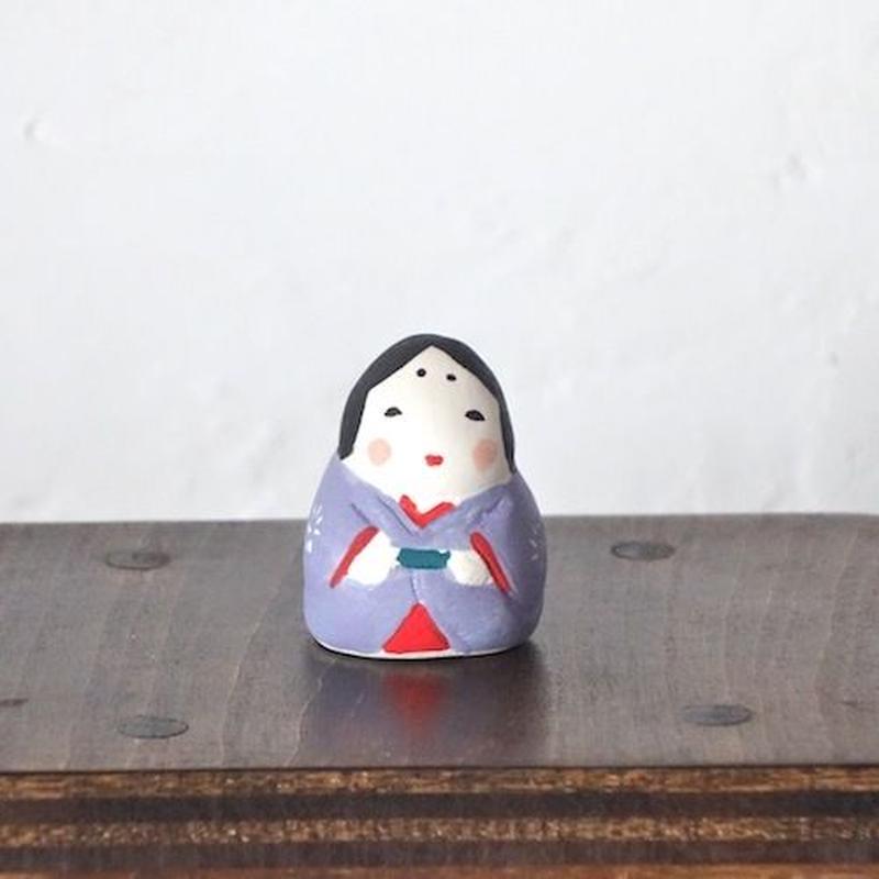 ミニお多福さん 紫  Mini Otafuku paple