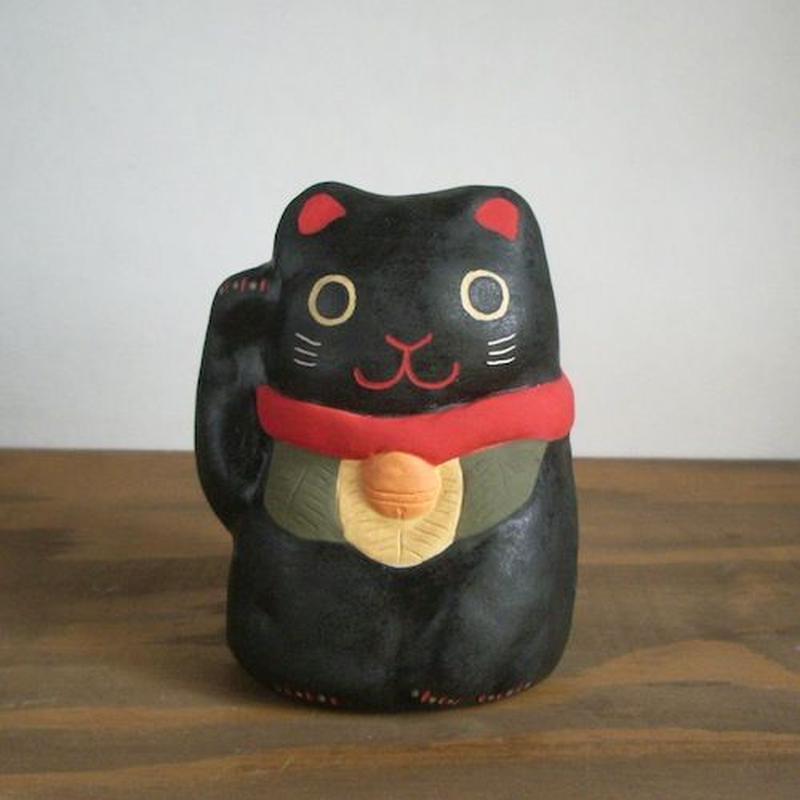 招き猫 黒 Beckoning cat black