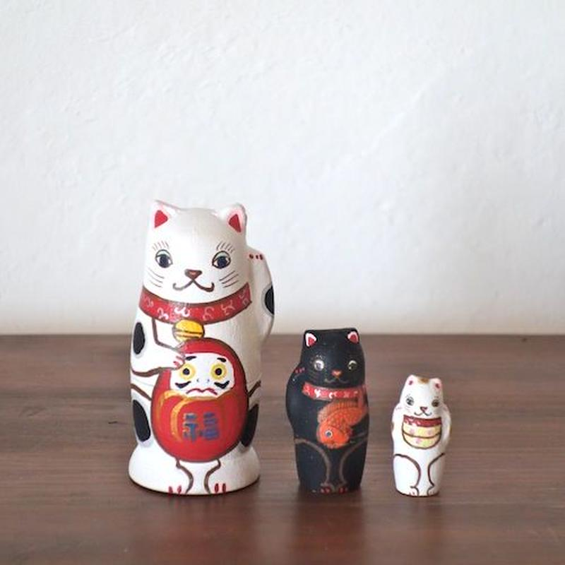 MATRYOSHKA 3sets 招き猫 beckoning cat