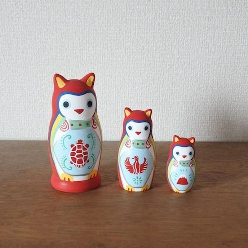 MATRYOSHKA 3sets 赤みみずく Red Owl